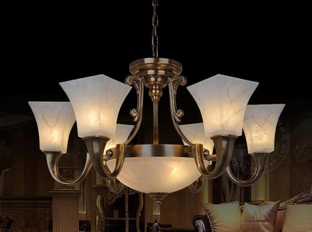 Multipla lampadario lampada lampade in rame di american retro
