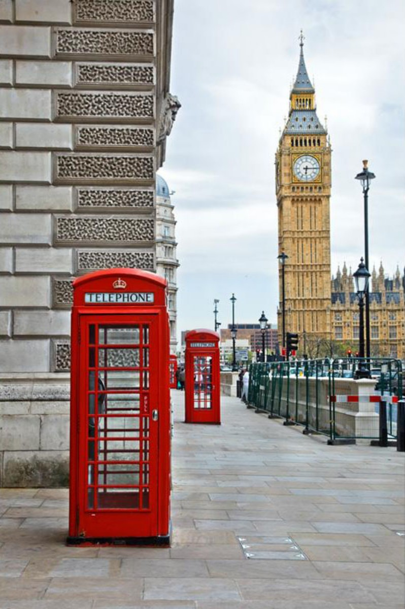 London City Street Telephone Booth Wall photo backdrop Vinyl cloth High quality Computer print party background