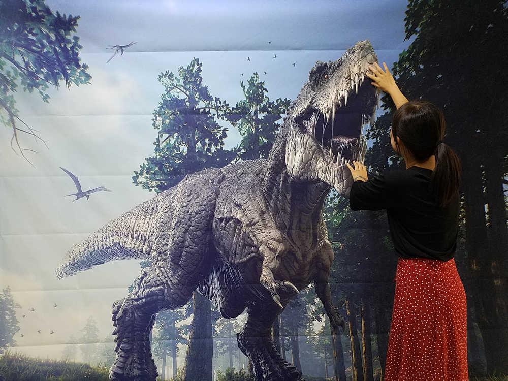 Джунгли динозавр фон для фотосъемки задник-фон для фотографирования парк и мир Юрского периода на тему день рождения, вечеринка, фото декорации XT-6981