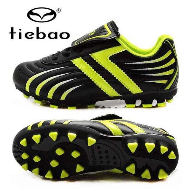 TIEBAO Professional Boys Football Shoes Kids Soccer Cleats AG Soles Hard Court Sneakers Botas De Futbol Con Tobillera