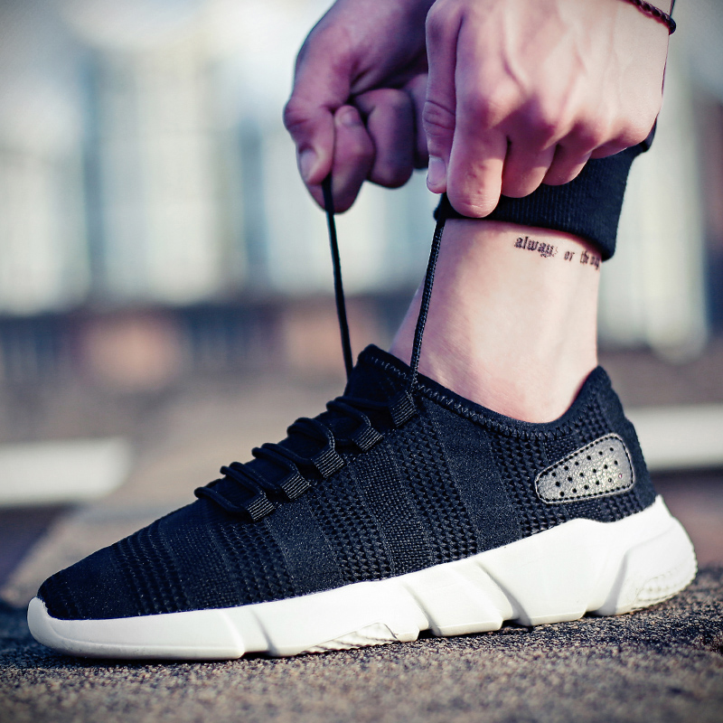 2019 New Fashion Mens Casual Shoes Fashion White Sneakers Mesh Shoes Low Top Mens Trainers Shoes Zapatillas Hombre Deportiva