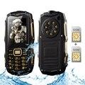 SUPPU Y809B IP67 водонепроницаемый bluetooth 2.0 телефон длительным временем ожидания dual sim карты фонарик power bank FM прочный мобильный телефон P225