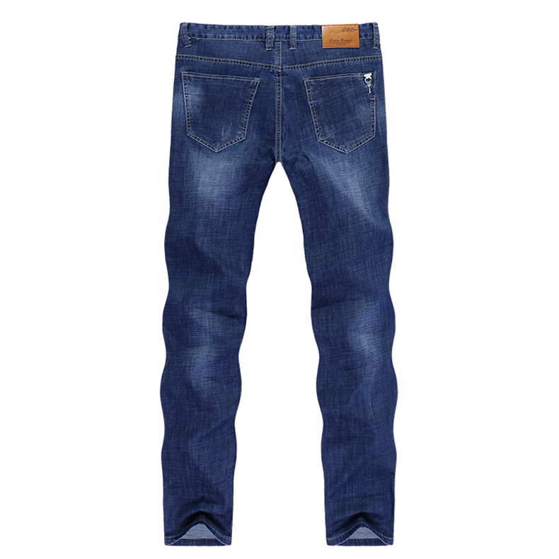 Famous Brand Jeans Men Regular Fit Stretch Direct Straight Dark Blue Business Causal Pants  Men's Tr