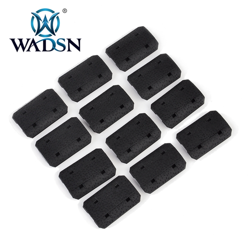 WADSN 12PCS Tactical Mlok Type 2 Rail Covers EMag Pul Type For M-lok SLOT System Rail Panel For Outdoor Hunting Wargame Mount