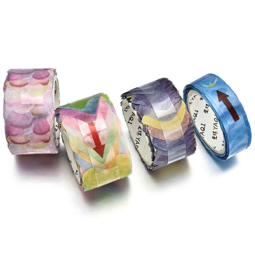 200PCS/Roll Masking Kelopak Tape Washi Tape Scrapbook Stiker Lengket Kertas Bunga