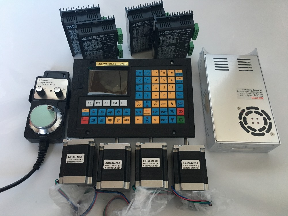 4 Axis CNC Controller kits Offline Stand Alone Replace Mach3 USB CNC Router Engraving Drilling Milling