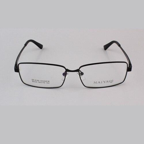 2016 New light pure titanium <font><b>glasses</b></font> frame myopia male Big Face Size Titanium frame whole Spectacle frame Oculos De Grau m 059
