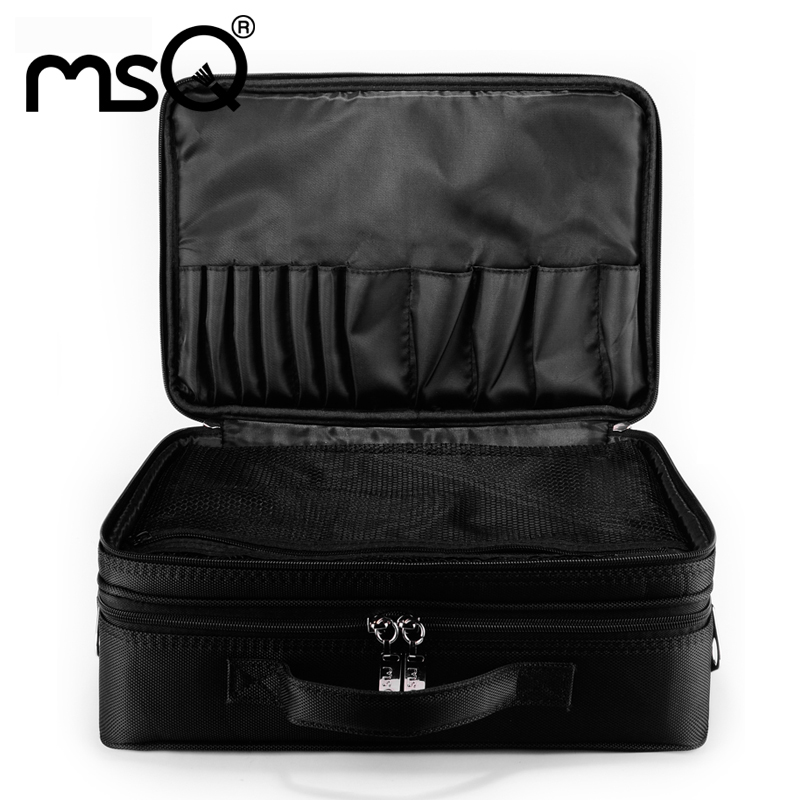 MSQ Make Up Bag Pink And Portable Cosmetic Bags For Professional Makeup Artist Toiletry Case New arrival