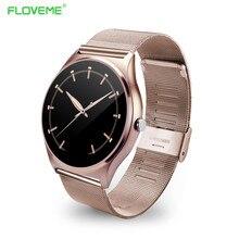 FLOVEME K7 9,8mm Dünnste Smart Uhr Stahlband NFC Bluetooth Smartwatch Für Android + IOS Schrittzähler Uhren Für iPhone/Samsung