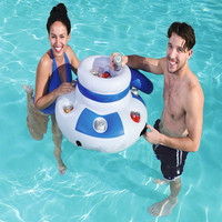 Inflatable Ice Bucket Pool Floats Adults Plastic Ice Cubes Drink Cooler Food Holder Swimming Accessories Pool Toys