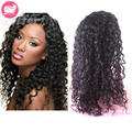 Brazilian Full Lace Human Hair Wigs For Black Women Deep Curl Glueless Full Lace Wig With Baby Hair Natural Black Lace Front Wig