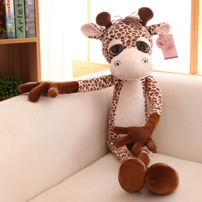 lovely cartoon giraffe plush toy new big eyes giraffe doll Xmas gift about 80cm 0094 детские кроватки forest lovely giraffe качалка