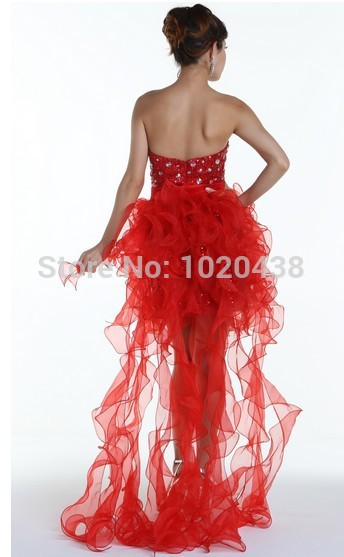 free shipping vestido de noiva 2018 new style formal prom gowns sexy short Removable skirt crystal red blue Bridesmaid Dresses in Bridesmaid Dresses from Weddings Events