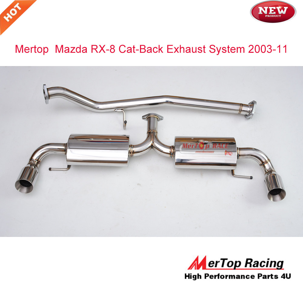 JKVK RACEING STAINLESS STEEL EXHAUST SYSTEM FROM CAT RX8 RX