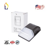 ETL&DLC listed 15w Dusk to Dawn LED Wall Pack Light with Photocell Sensor led wall light 5000K Outdoor door lamp