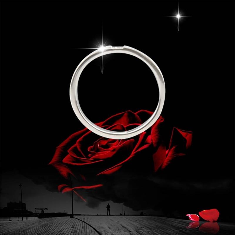 Fine Jewelry Elegant Korean Fashion Rose Ring CZ Gift Ring Gold Single Engagement Trendy
