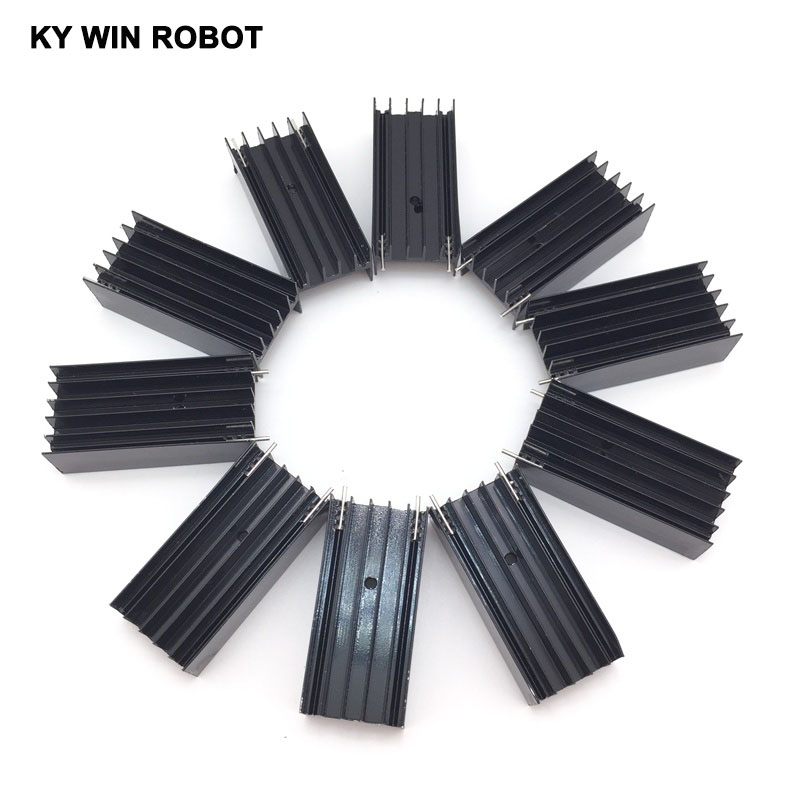 10pcs Aluminium TO-220 Heatsink TO 220 Heat Sink Transistor Radiator TO220 Cooler Cooling 23*16*50MM ...