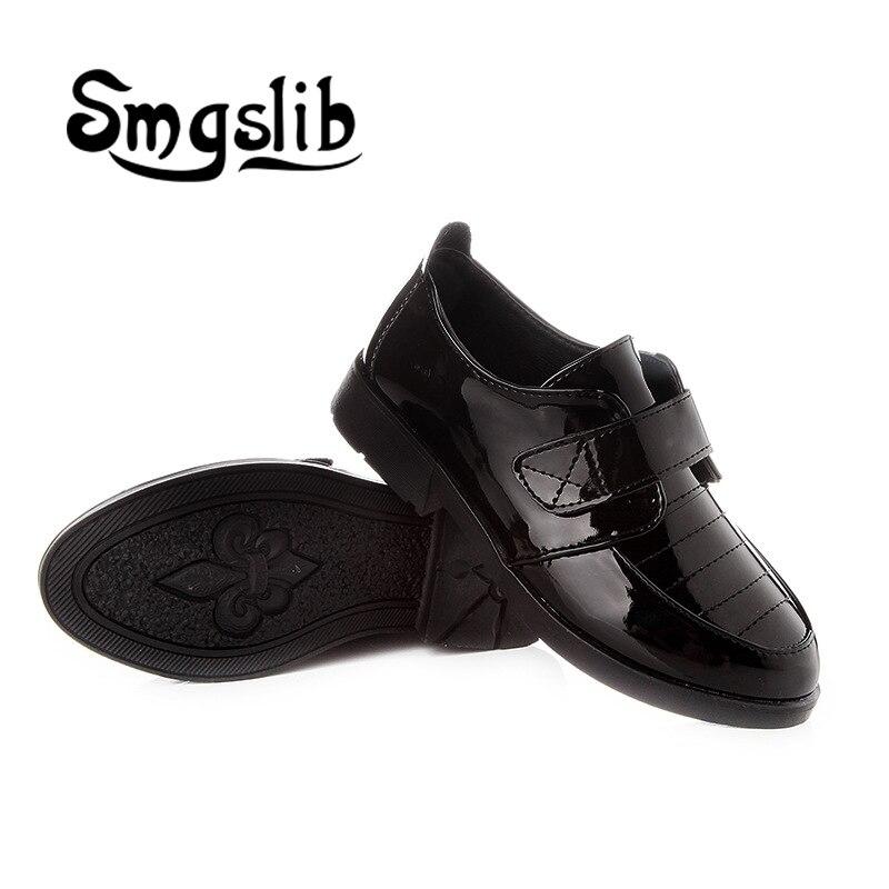 buty dla dzieci Chłopcy Płaskie skórzane buty czarne białe - Obuwie dziecięce - Zdjęcie 4