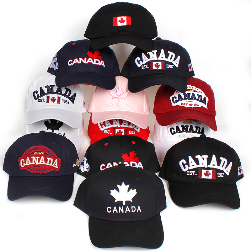 9775fbd98 2018 new Cotton Canada Baseball Cap Flag Of Canada Hat Snapback Adjustable  Mens Baseball Caps Brand