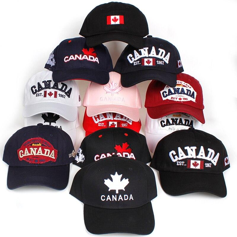 2018 new Cotton Canada   Baseball     Cap   Flag Of Canada Hat Snapback Adjustable Mens   Baseball     Caps   Brand golf   cap   hats Bone Garros