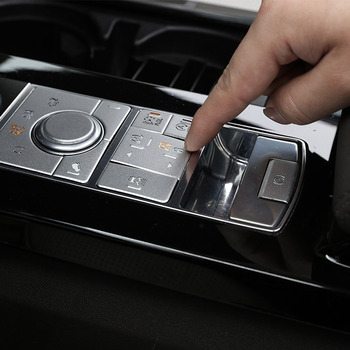 9pcs Alloy Car Interior Center Console Mode Adjustment Button Sequins For Range Rover Sport 2014-2017 Accessories Car-Styling 1