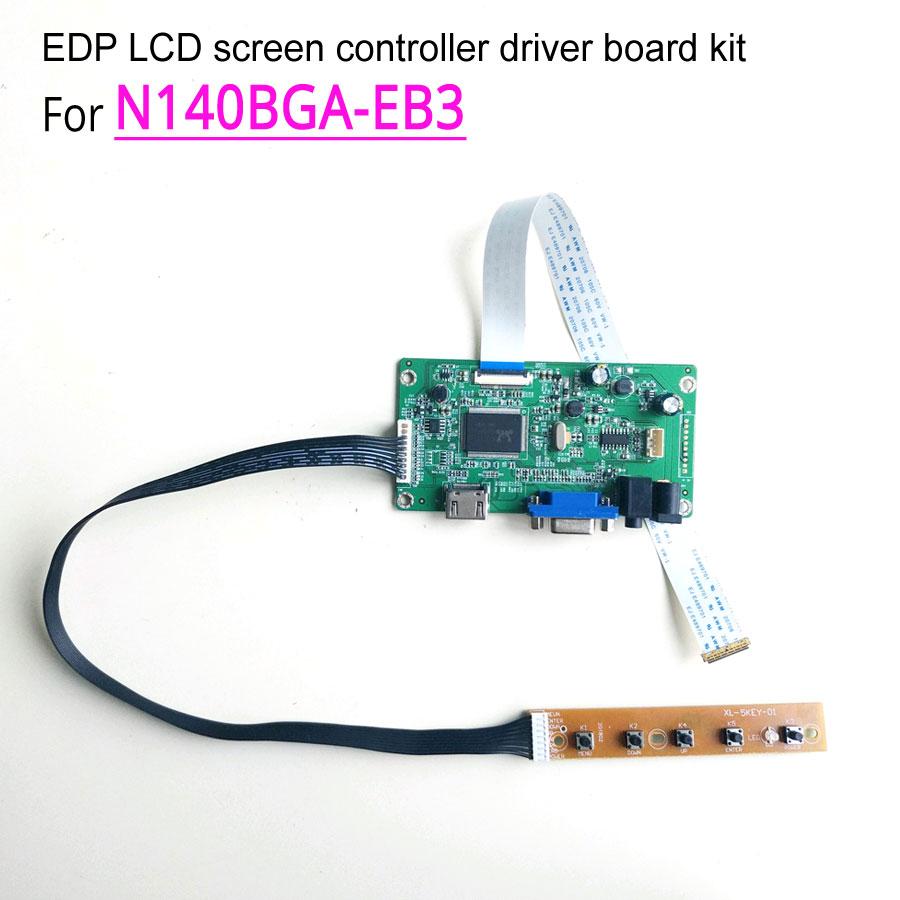 For N140BGA EB3 1366 768 30 pin EDP 14 60Hz notebook LCD screen WLED HDMI VGA