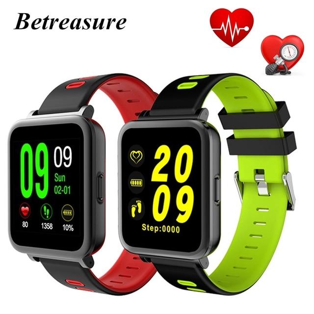 f4533f71cb4 Betreasure BW17 NOVO Bluetooth Relógio Inteligente Monitor de Freqüência  Cardíaca Relógios Inteligentes de Saúde de Fitness
