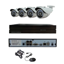 48V POE 6IR light high-definition 1.0MP 720P infrared network IP camera outdoor waterproof 4CH POE NVR Onivf H.264 P2P security