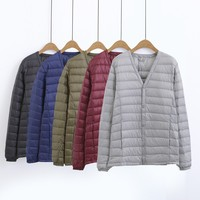 down jacket for man light warm winter jacket men feather coat portable duck down men windproof clothing casual outerwear