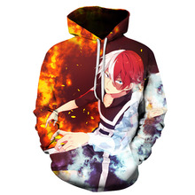 BIAOLU Anime My hero academy Hoodies Fashion Men Women Pullovers 3D Oversized Sweatshirts Naruto Tops S-6XL