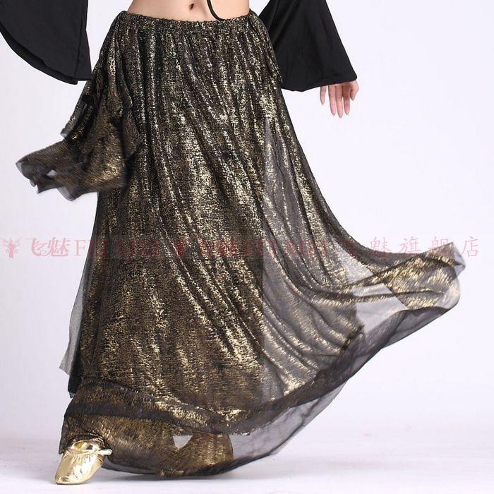 reputable site 241f9 bc84e US $14.99 40% di SCONTO|Danza del ventre gonne lunghe di seta indiana  skirtt delle Donne di ballo di Pancia Del costume del vestito di seta crema  ...