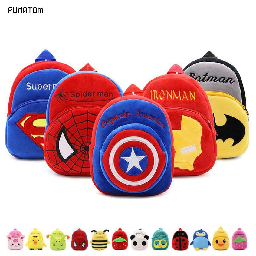 2019 Cartoon Kids Plush Backpacks Mini schoolbag Mickey Plush Backpack Children School Bags Girls Boys Backpack(China)