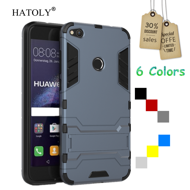 Para a Tampa Huawei P8 Lite 2017 Caso Armadura De Borracha Dura Tampa Do Telefone para Huawei P8 Lite 2017 Caso de Proteção para honra 8 Lite 2017