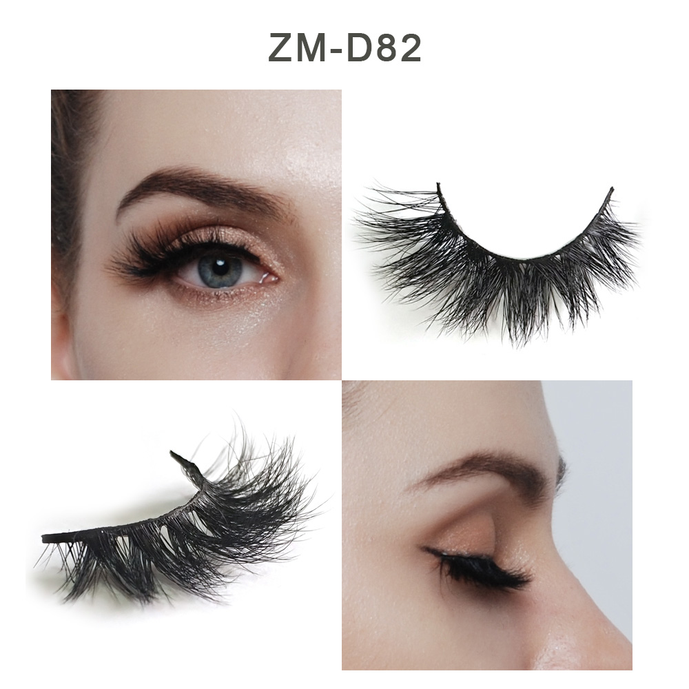 False Eyelashes Cooperative 100% Real Siberian Mink Fur Strip Eyelash Mink Lashes