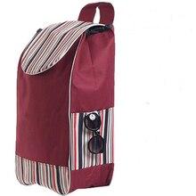 Double layers shopping cart bags for shopping trolley car cart bag waterproof 1pc