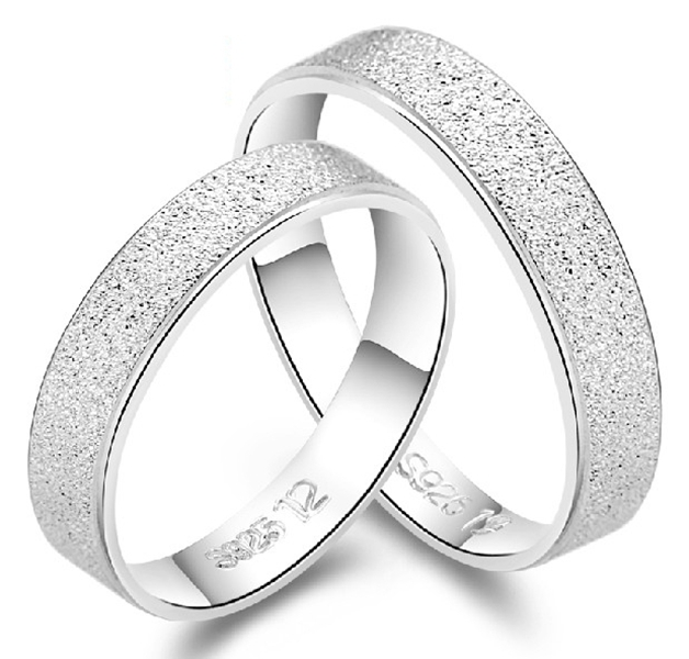 Couples Wedding Band Set Ring Couple 925 Sterling Silver Classic