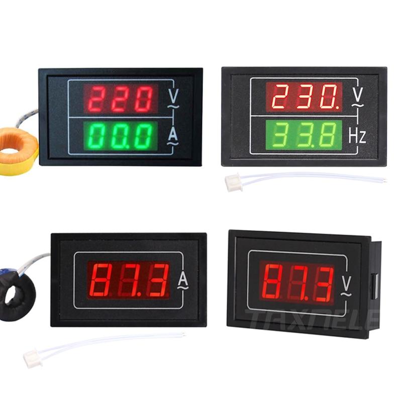 Цифровой измеритель напряжения и тока, тестер с двойным дисплеем DL85 AC80-500V 100A 60A, светодиодный амперметр, вольтметр, амперметр переменного то...