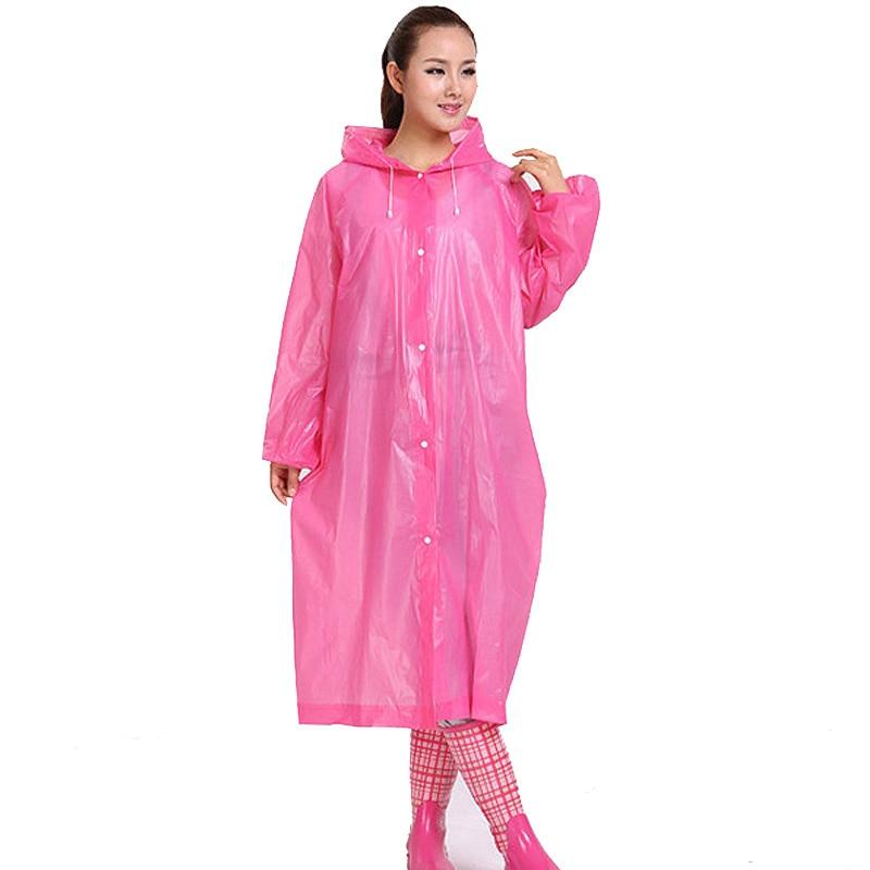 Seyahat Kalın Bölüm Kadın Erkek Kullanımlık Yağmurluk EVA Şeffaf Kamp Yağmurluk Panço Yetişkin SN22 Birden Çok Kez Kullanılan Olabilir