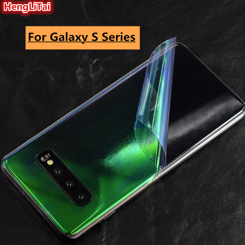 For Samsung <font><b>Galaxy</b></font> <font><b>S10</b></font>/<font><b>S10</b></font> Plus/S10E/S9/S9 Plus/S8 Transparent Skins Protective Film Wrap back paste Protective Film <font><b>Sticker</b></font> image