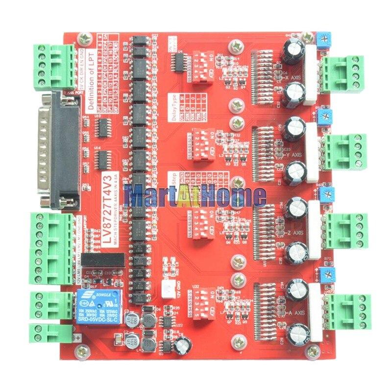 CNC 200 125KHZ 4 軸ステッピングモータドライバ制御ボード LV8727 サポート Mach2 Mach3 KCAM4 # SM730 @ SD  グループ上の 家のリフォーム からの モータドライバ の中 3