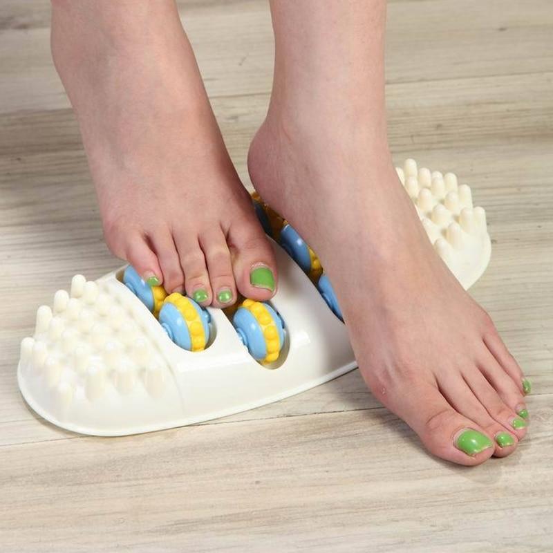 Kunststoff Roller Rad Füße Massager Akupunktur Punkt Massage Schmerzen Relief Müde Entspannung Fußreflexzonenmassage Gesundheit Pflege