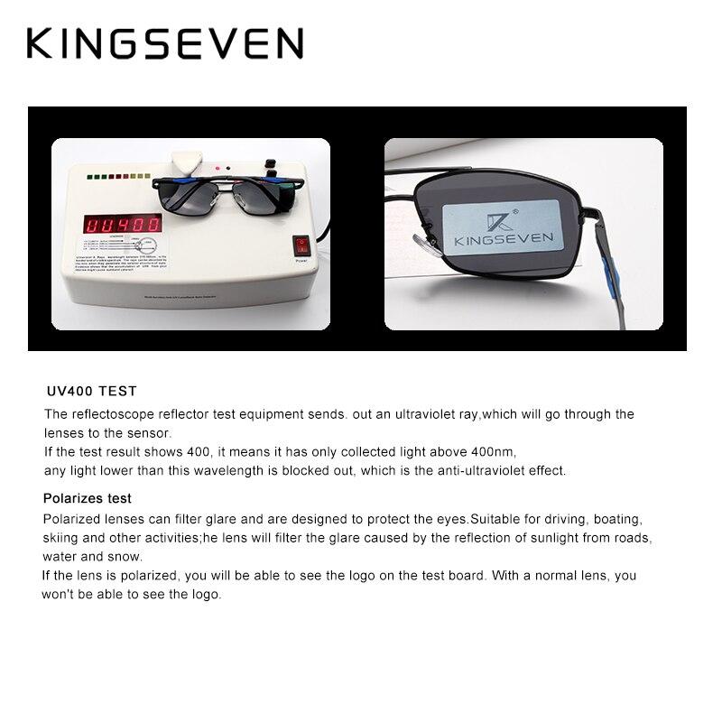 c90a1b66f70 KINGSEVEN Brand Classic Square Plastic Polarized Men Sunglasses Men s Sun Glasses  Driving Fishing Aluminum Eyewear N7906-in Sunglasses from Apparel ...
