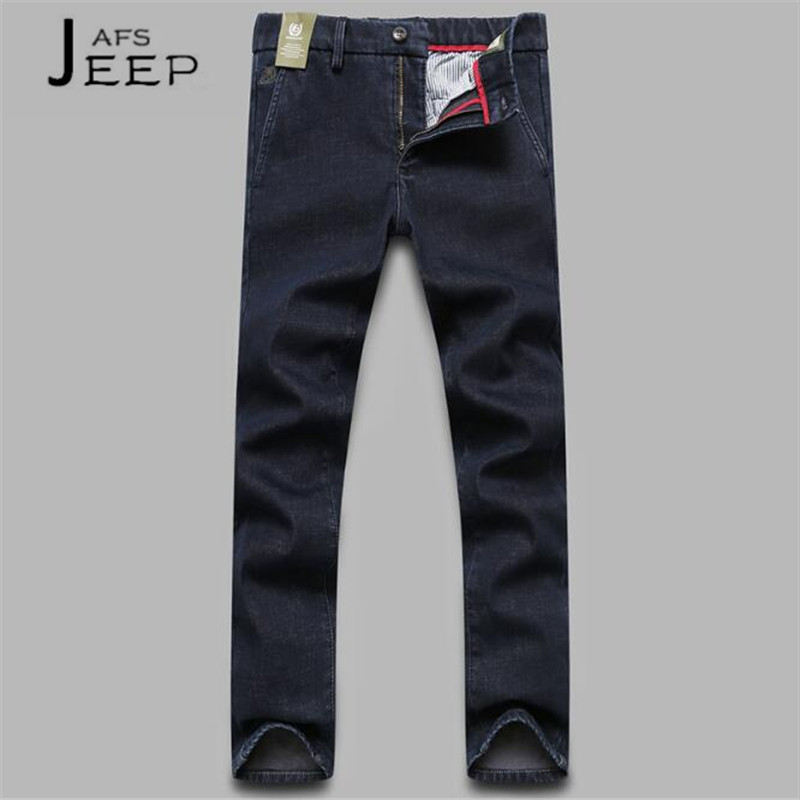 soft elasticity thicken cashmere wool knee warmer supporter black pair AFS JEEP Winter Black Elasticity Cotton Jeans,Straight Cotton Made Cashmere Inner Keep Warmly Social Men's pantalones vaqueros