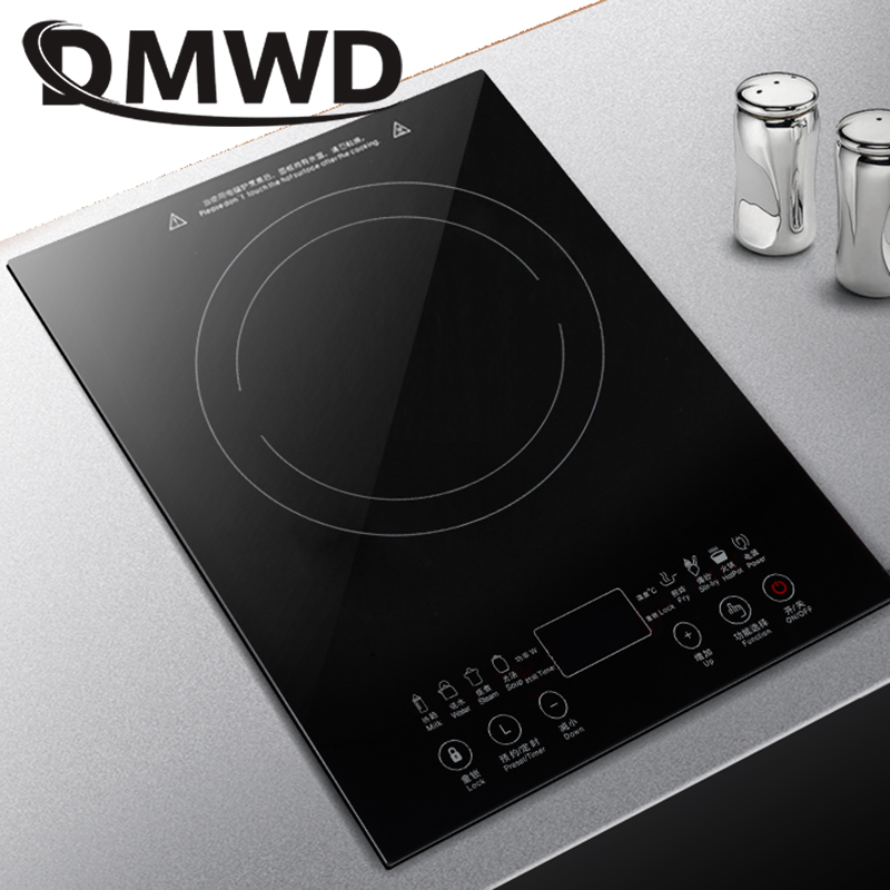 DMWD Desktop Bulit-in Electric Ceramic Hob Burner Electromagnetic Induction Cooker Embedded Hotpot Heating Stove Cooktop Oven EU