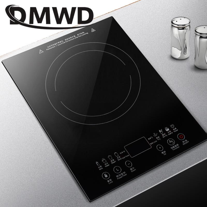 DMWD Desktop Bulit-in Electric Ceramic Hob Burner Electromagnetic Induction Cooker Embedded Hotpot Heating Stove Cooktop Oven EU