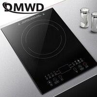 DMWD Desktop Bulit in Electric Ceramic Hob Burner Electromagnetic Induction Cooker Embedded Hotpot Heating Stove Cooktop Oven EU