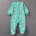 Moda bebê Menino Bonito Roupas Escalada Com Pé Meninas Recém-nascidas Pijamas Quentes Rompers Criança Zíper Macacão Roupas Kit Cousume