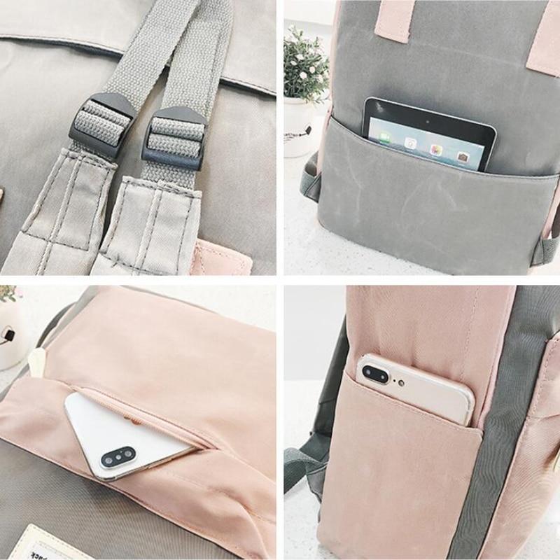HTB1.Vj0vyQnBKNjSZFmq6AApVXaC Yogodlns Campus Women Backpack School Bag for Teenagers College Canvas Female Bagpack 15inch Laptop Back Packs Bolsas Mochila