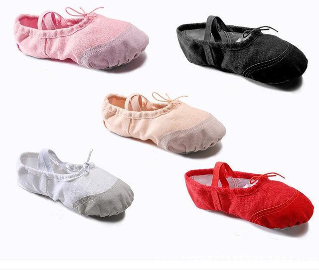 Gymnastik Ballett Frauen Eu41 Rot Rosa Klassische 77eu16 Hausschuhe Schwarz Mädchen Schuhe Wohnungen Kostenloser Leinwand Kinder Split Dance Us8 kXuTZiOP