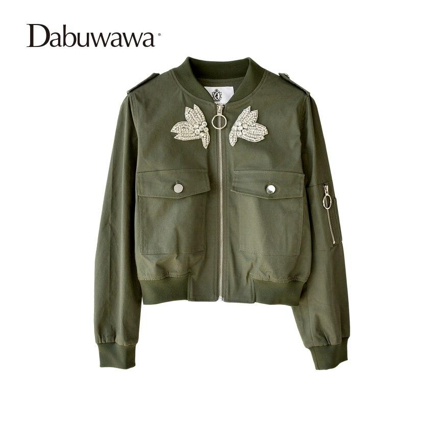Dabuwawa Винтаж вышивка Базовая куртка пальто осень 2018 улица атласная куртка-пилот Для женщин Реверсивный Бейсбольные куртки sukajan